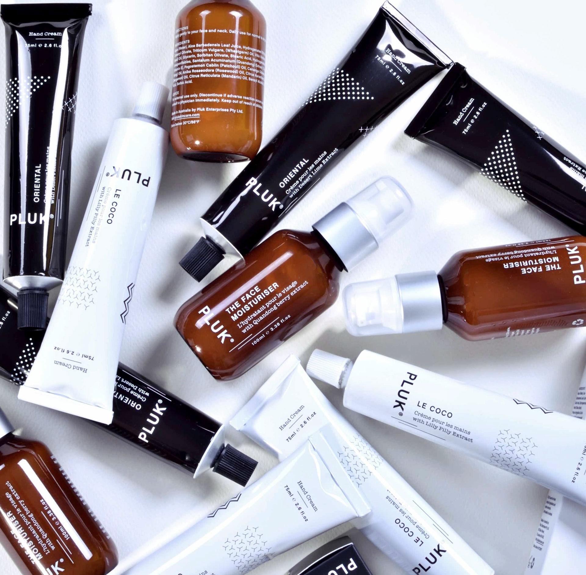 Pluk Skincare Australia Product Range
