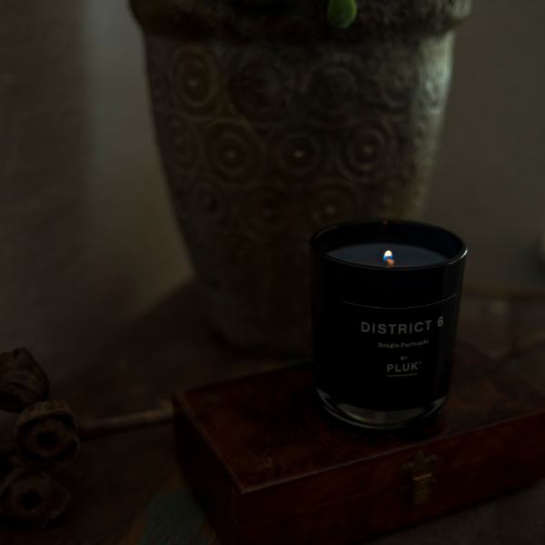 pluk skincare candle district 6
